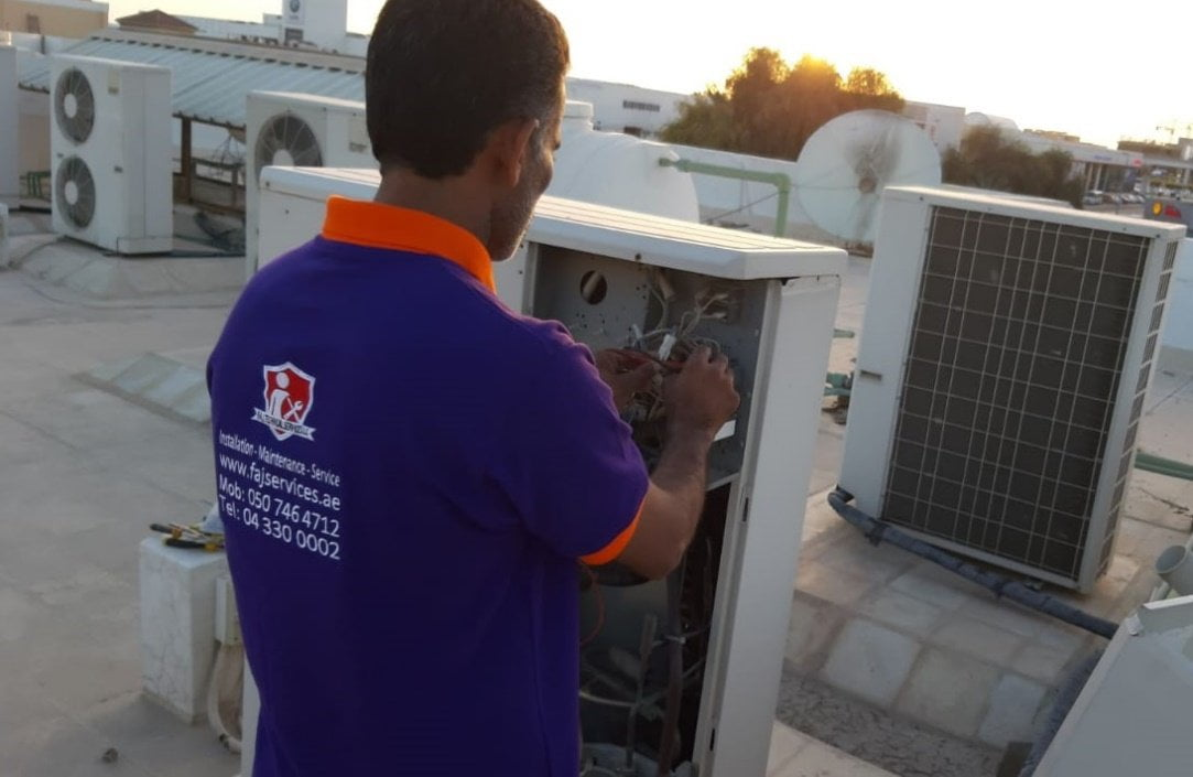 Residential and Commercial AC | Air Con Service in Dubai | FAJ Services